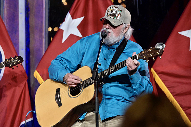 Country music legend Charlie Daniels performs Thursday, June 27, during the second Veteran Impact Celebration in support of the Charlie and Hazel Daniels Veterans and Military Family Center on the MTSU campus. (MTSU photo by Andy Heidt)