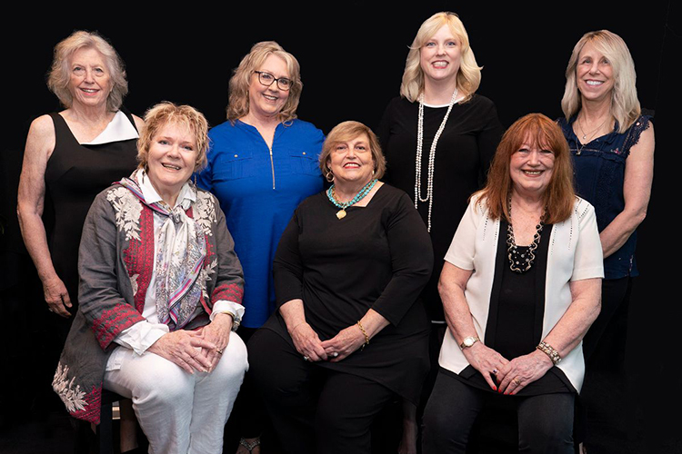 The SOURCE Nashville advocacy organization recently announced its 2019 Hall of Fame inductees. Pictured, standing, from left, are Grace Reinbold, Sarah Brosmer, Beverly Keel, and Erika Wollam-Nichols; sitting, from left, are Gayle Hill, Judi Turner and Trisha Walker-Cunningham. (Photo courtesy of Ed Rode)