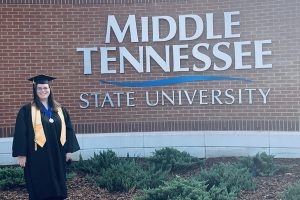 MTSU adult learner graduates with honors after 18-year journey