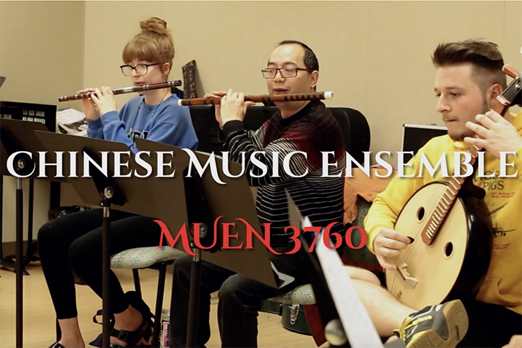 The MTSU Chinese Music Ensemble is a registered course in the university's School of Music that teaches students to play and perform on Chinese musical instruments. The instructors are visiting professors and a graduate student from China.