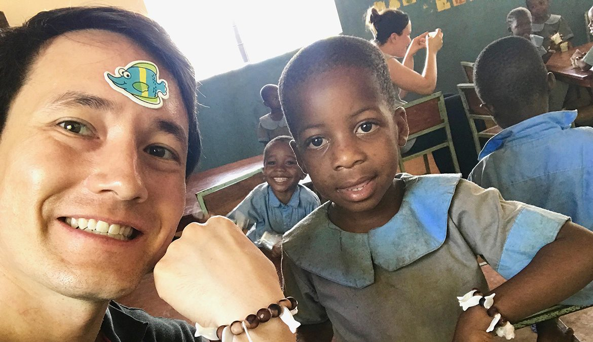 MTSU alumnus Robert Owen poses with a young boy on his 2017 mission at a leprosy recovery camp in Kenya. Owen completed numerous humanitarian missions at home and abroad before and during his college career. He's now studying to become a doctor at the Mayo Clinic Alix School of Medicine in Rochester, Minnesota, with an $8,500 fellowship from The Honor Society of Phi Kappa Phi. (Photo submitted)