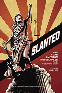 "cover of ""Slanted"" by author, musician and activist Simon Tam"