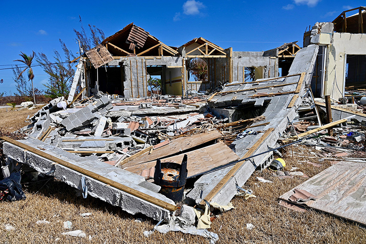 This photo Friday, Sept. 20, in Freeport, Bahamas, shows the destruction that remains in the aftermath of Hurricane Dorian. MTSU's Raider Relief effort made a third mission trip to the island commonwealth with three plane-loads of emergency supplies.(MTSU photo by Andrew Oppmann)
