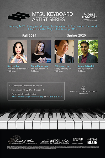 MTSU 2019-20 Keyboard Artist Series poster