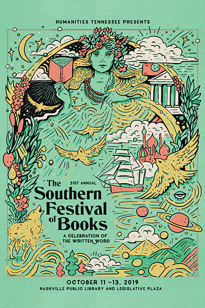 2019 Southern Festival of Books poster