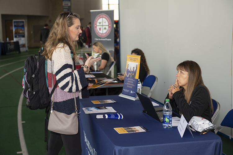 More than 200 MTSU students and alumni turned out for the 2019 Fall Career Fair held Oct. 3 inside Murphy Center. (MTSU photo by James Cessna)