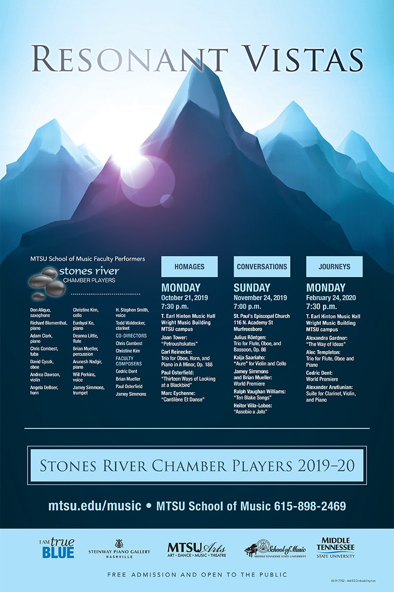 MTSU Stones River Chamber Players 2019-20 concert season poster