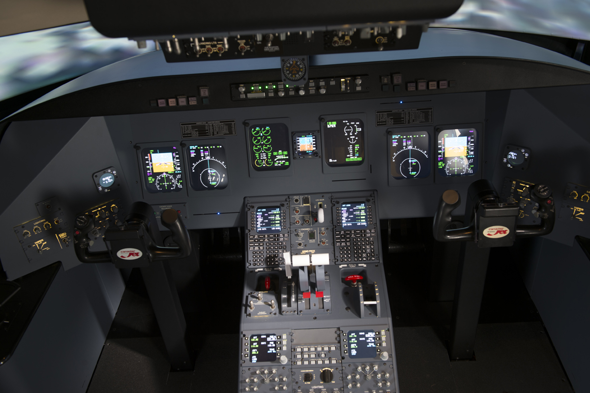 New technology in the form of L3Harris Technologies' Level-5 flight training devices and a virtual flight deck will soon arrive for MTSU professional pilot students to utilize. The devices, which are utilized by airlines and training providers across the globe, will introduce students to operations with regional jets before they join the airlines. (Submitted photo by L3Harris Technologies