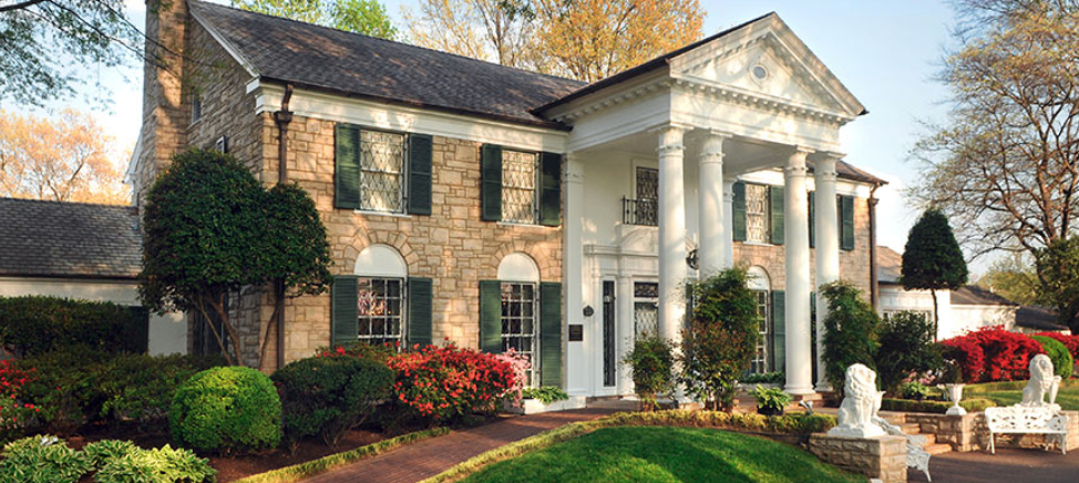 Graceland, Elvis Presley's home in Memphis, Tenn., is open year-round except Thanksgiving and Christmas Day. (photo courtesy of Graceland)