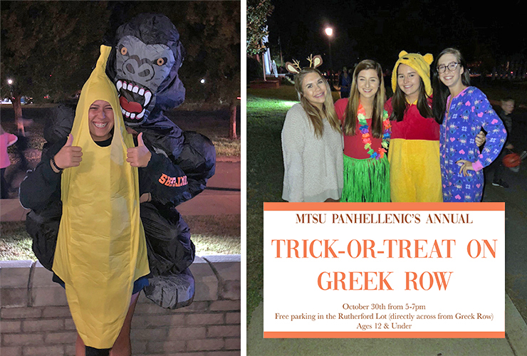 Trick or Treat-Greek Row 2019 graphic