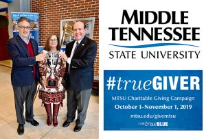 MTSU employees pledge record $133K-plus for 2019 Charitable Giving Campaign