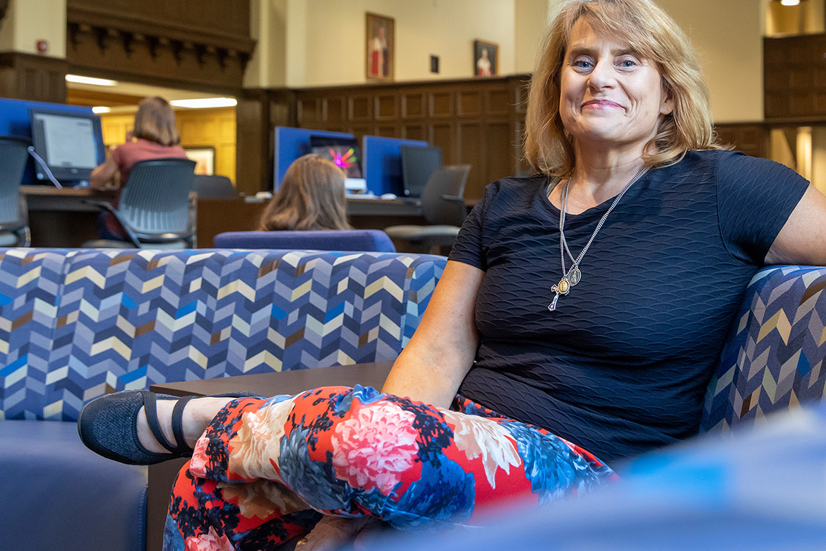 Courtnay Zeitler, head of access services at the Jessie Ball duPont Library at The University of the South in Sewanee, Tennessee, is a spring 2019 graduate of the MTSU Master of Library Science online degree program. (Photo courtesy of The University of the South/Sewanee)