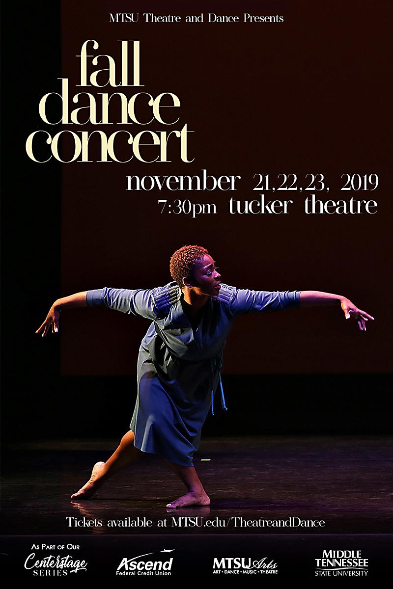 MTSU Fall Dance Concert 2019 poster