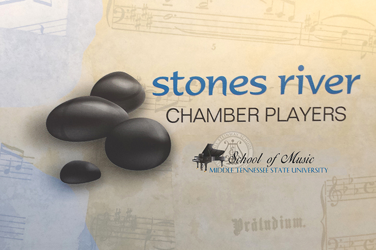 Stones River Chamber Players logo with MTSU School of Music logo