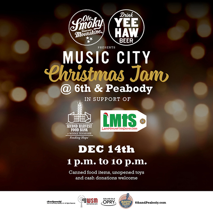 Music City Christmas Jam flyer 2019