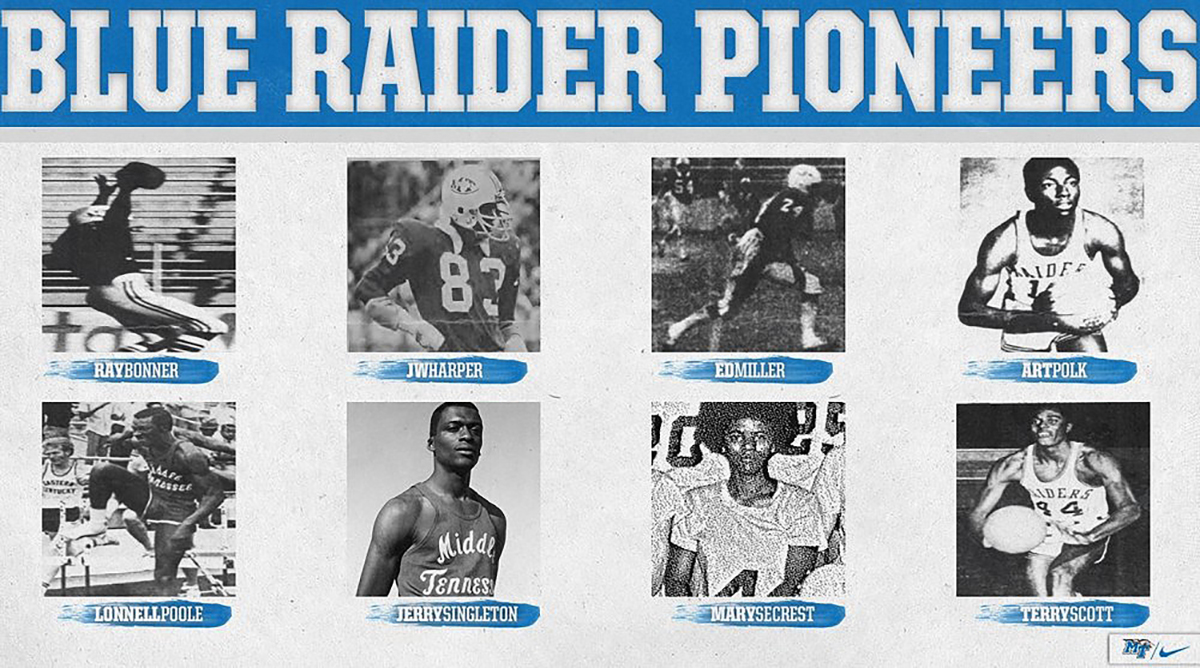 Blue Raider pioneers graphic