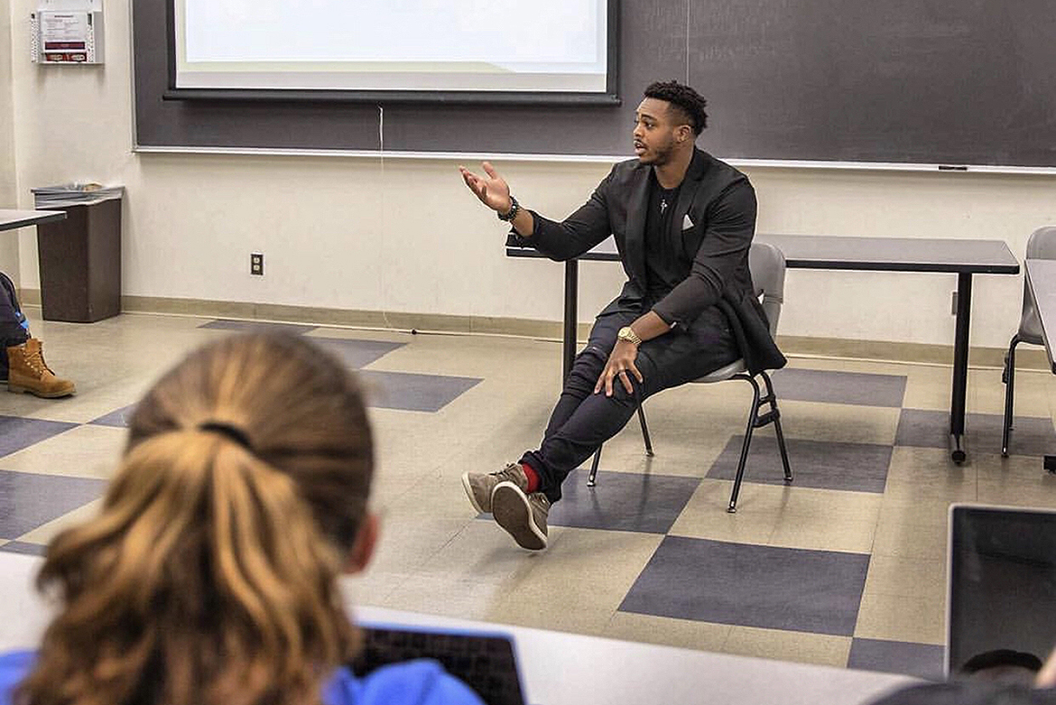 NFL linebacker Brandon Copeland of the New York Jets is a financial literacy advocate who teaches a finance course at his alma mater, the University of Pennsylvania. Copeland will visit MTSU April 9 for a public talk about how students can make better financial decisions. (Submitted photo)