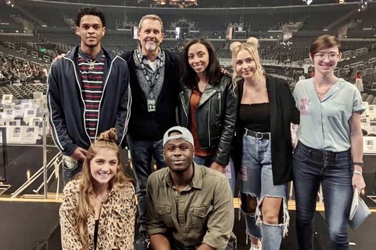 A group of MTSU College of Media and Entertainment students joined a university delegation of faculty and staff in Los Angeles for pre-event activities and outreach before the 62nd annual Grammy Awards set for Sunday at Staples Center. (MTSU photo by Andrew Oppmann)