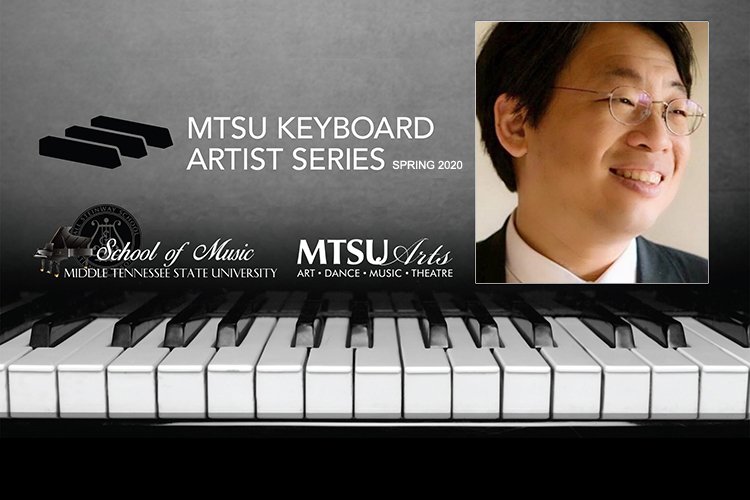 promo for Chih-Long Hu's Jan. 24, 2020, concert continuing the fifth season of the MTSU School of Music's Keyboard Artist Series in Hinton Hall inside the Wright Music Building.