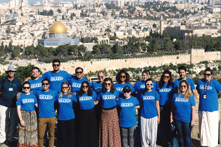 An MTSU class poses for a group photo from the annual study-abroad excursion to Israel in 2019. (Photo submitted)
