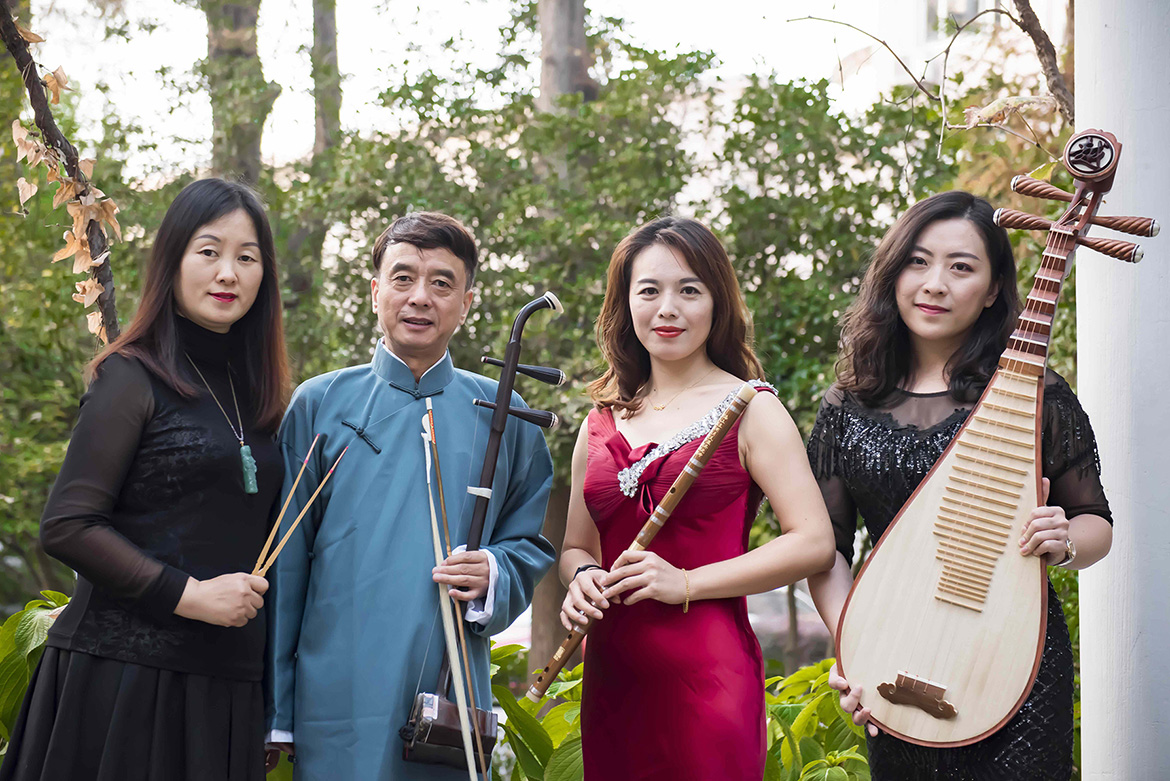 The Jinling Dragon Chinese Ensemble, led by erhu master Dong Jinming, second from left, will perform in a Chinese New Year celebration Jan. 28 at Hinton Hall in MTSU's Wright Music Building. (Photo provided)