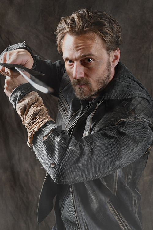 "Sam Ashdown of the Nashville Shakespeare Festival poses in costume with a sword as the lead in the NSF's new production of ""Macbeth."" MTSU will host the touring show inside Tucker Theatre Feb. 6-8; tickets are available at www.mtsuarts.com. (Photo courtesy of Rick Malkin and the Nashville Shakespeare Festival)"