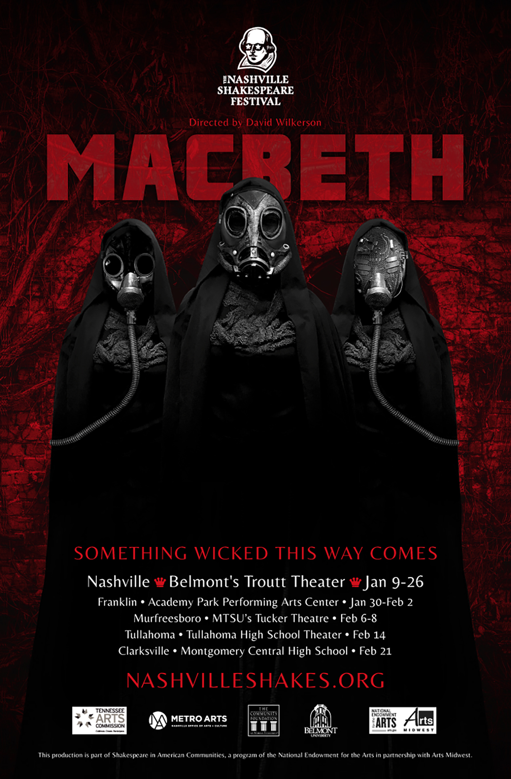 Nashville Shakespeare Festival Macbeth poster