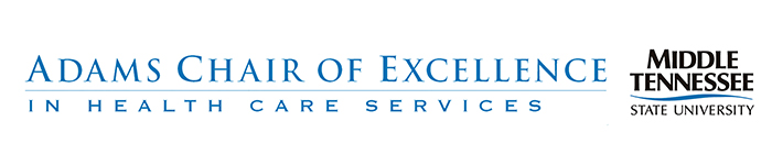 Adams Chair of Excellence in Health Care Services at MTSU logo