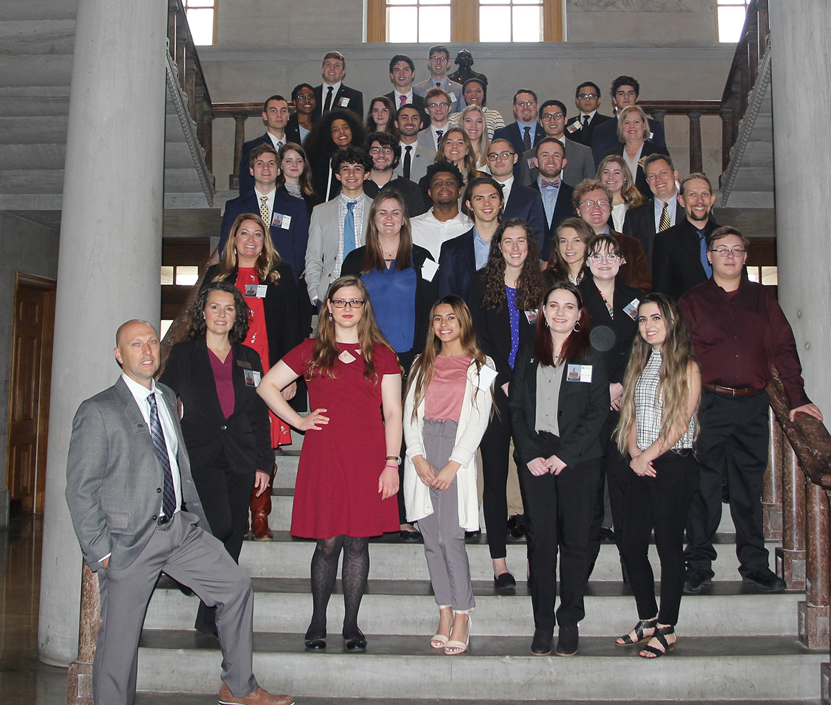 MTSU joined eight other universities from across Tennessee in bringing nearly 60 student researchers to present and meet legislators during Posters at the Capitol in Nashville, Tenn., Wednesday, Feb. 26. The effort was led by the Tennessee STEM Eduction Center. (Submitted photo)