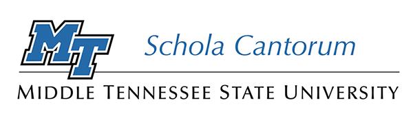 MTSU Schola Cantorum logo, School of Music