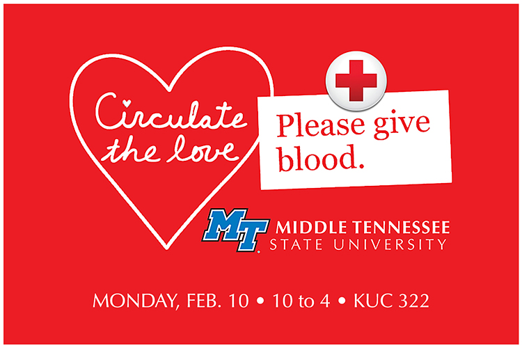 MTSU valentine blood drive 2020 graphic