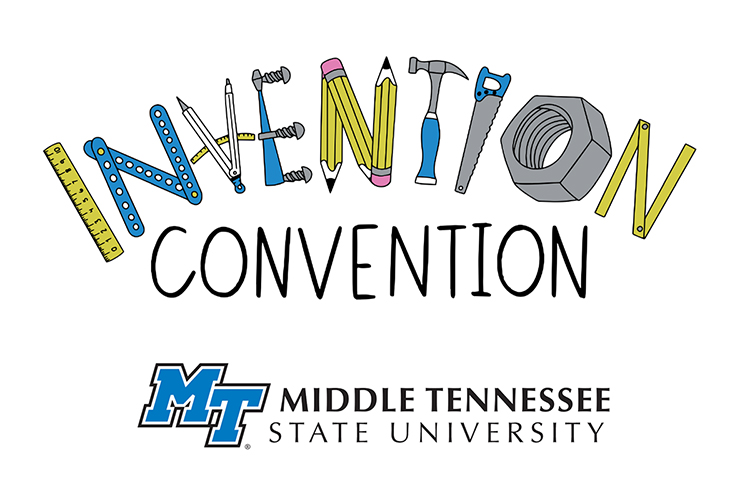 MTSU Invention Convention logo with university logomark