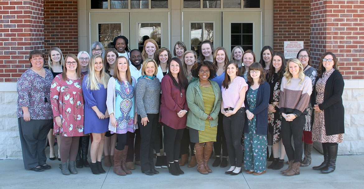 The 2019-20 Gifted Academy Cohort Graduates are Hollie Berry, Olivia Outland, Allison Cole, Olivia Cowan, Jennifer Defere, Mary Dobbs, Neely James Embree, Kristen Goodman, Alison Harris, Elizabether Hurst, Carla Vandygriff Jackson, Donna Karrh, Jacqueline Keller, Devontae Kelley, Kasey Landreth, Erin Nunley, Sarah Primm, Kayla Richards, Kelsey Rone, Bailey Rose, Taylor Sams, Dana Stem, Kirstyn Tackett, Brittney Tate, Robyn Clifford Trowbridge, and Stephanie West. (Photo courtesy of Murfreesboro City Schools)
