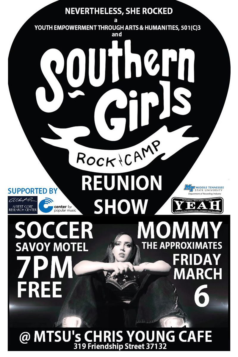 Southern Girls Rock Camp reunion concert poster