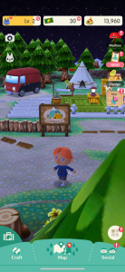 A screenshot of Singh's Animal Crossing account, showing his avatar Dr. Red: a small, red-haired man.