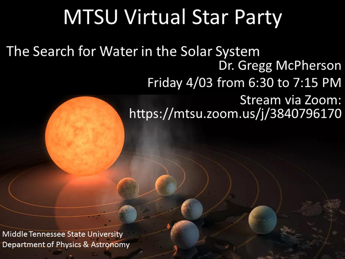 April 3, 2020, MTSU Virtual Star Party graphic