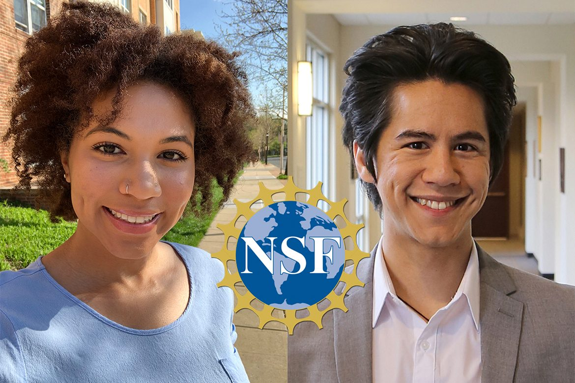 From left, Jessica Shotwell and Samuel Remedios, National Science Foundation Fellowship recipients
