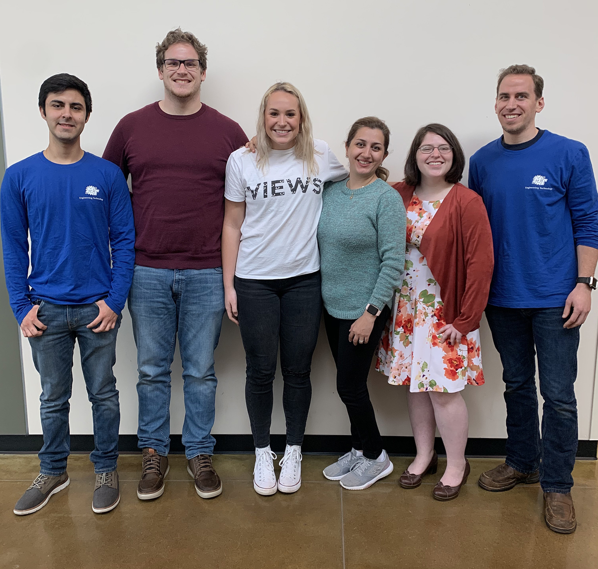 The first group of MTSU/U.S. Department of Education GAANN recipients include Juan Garcia Mendez, left, Lucas Hamilton, Aubrie Huddleston, Parisa Nasrzadeh, Chris Lawrence and Derek Morris. (Submitted photo)