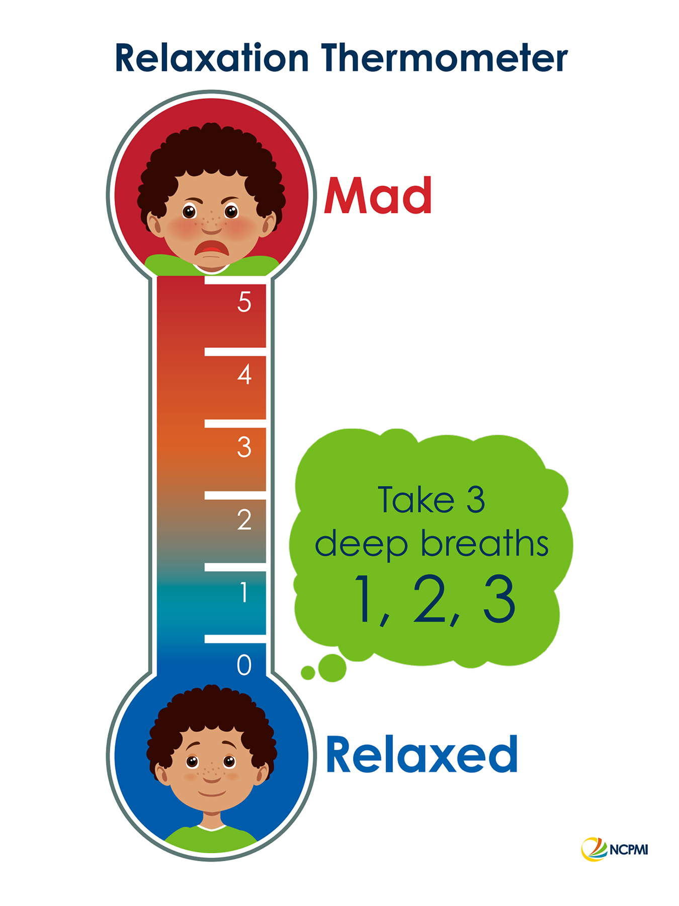 "This ""relaxation thermometer"" illustration by the National Center for Pyramid Model Innovations shows young children how to recognize feelings' effect on their bodies and how they can help control their level of emotion. The MTSU College of Education is offering, through its Early Learning Programs, a new online version of a course for preschool educators to help very young children develop social and emotional skills. Click on the image for a larger view."