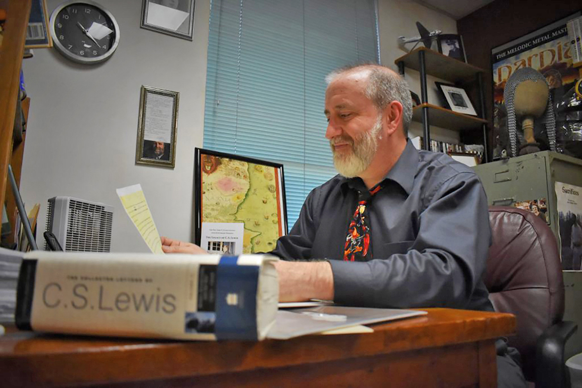 "Dr. Charlie Starr, an MTSU alumnus and one of the world's foremost C.S. Lewis scholars, has discovered a lost attempt by Lewis at a sequel to ""The Screwtape Letters."" Starr is an associate professor of English at Alderson Broaddus University in Philippi, West Virginia. (Photo submitted"