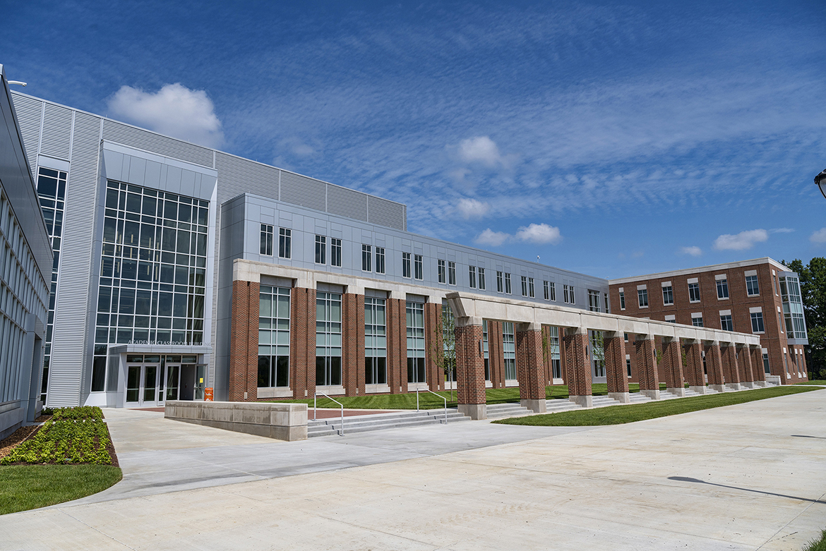MTSU'S new $39.6 million Academic Classroom Building will house three departments within the College of Behavioral and Health Sciences. (MTSU photo by Andy Heidt)