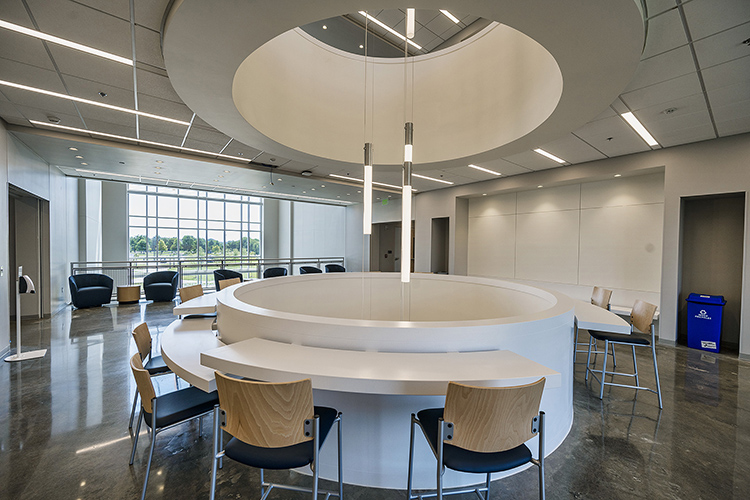 This is one of the common areas for students inside MTSU's new $39.6 million Academic Classroom Building that will house three departments in the College of Behavioral and Health Sciences. (MTSU photo by Andy Heidt)