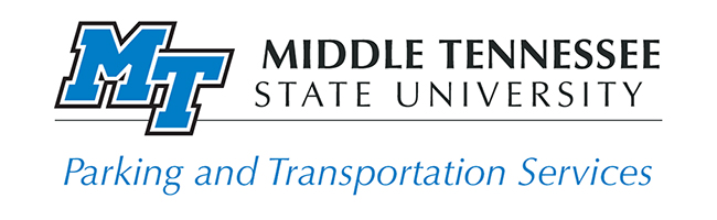 MTSU Parking and Transportation Services logo