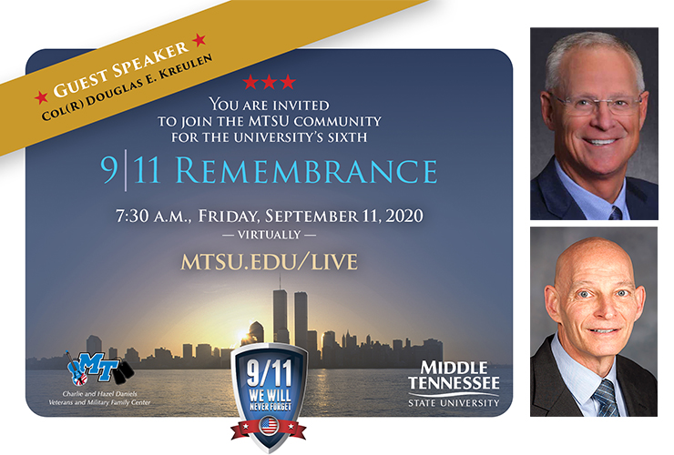 9/11 Remembrance graphic for Sept. 11, 2020, ceremony