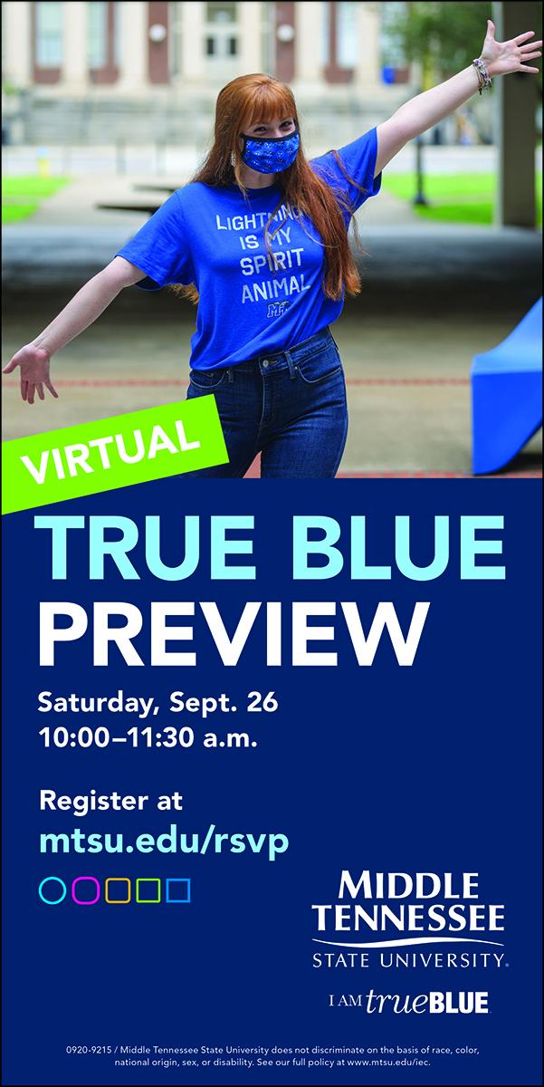 Sept. 26, 2020, True Blue Preview graphic
