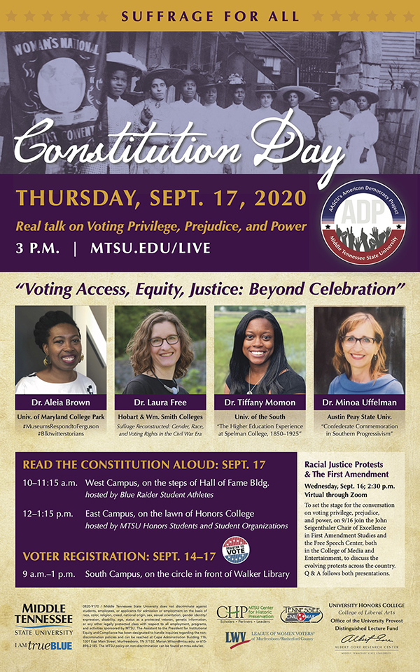MTSU Constitution Day 2020 poster