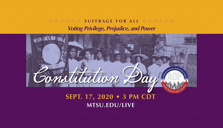 MTSU Constitution Day 2020 promo