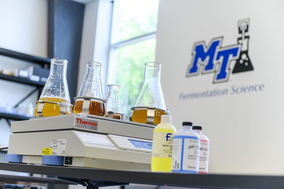 Athens, Georgia-based Terrapin Beer Co. is partnering with Middle Tennessee State University fermentation science, offering an annual $10,000 scholarship to underrepresented undergraduate students wanting to pursue a degree in this program. Molson Coors Beverage Co., recently established a $25,000 endowment with MTSU. (MTSU file photo by J. Intintoli)