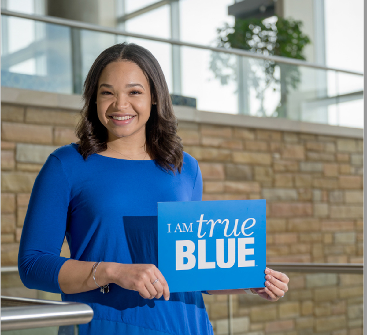 MTSU admissions recruiter Alexandria Johnson will team with fellow recruiter October Henson on the Saturday, Sept. 26, broadcast of the True Blue Preview, helping recruit future students. Johnson is a former MT Lady Raiders basketball player. (Submitted photo)