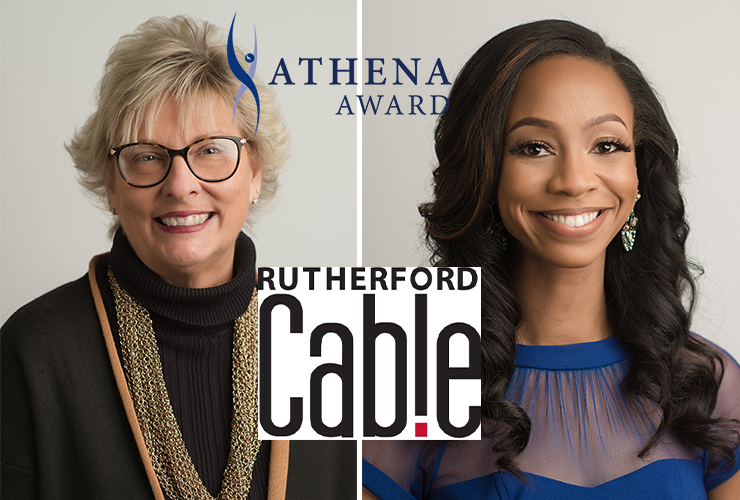 Diane Turnham and LaShan Dixon, 2020 ATHENA Award recipients